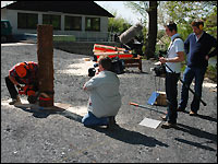 Landeswettbewerb 2009, Fällschnitt im Forst