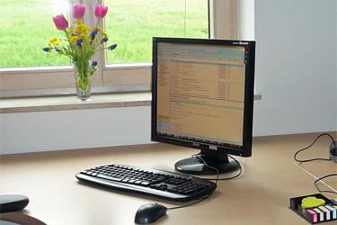 Schreibtisch im Agrarbüro